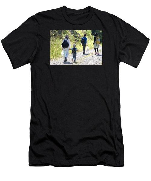 Family Walk Men's T-Shirt (Athletic Fit)