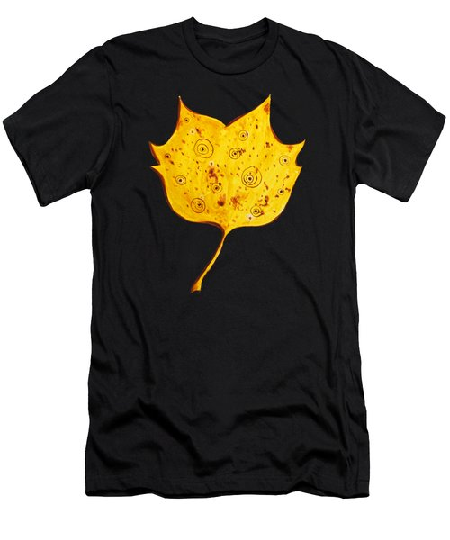 Fancy Yellow Autumn Leaf Men's T-Shirt (Athletic Fit)
