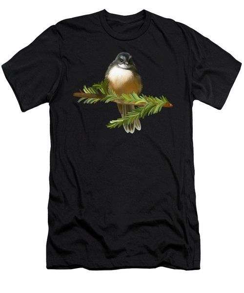 Men's T-Shirt (Athletic Fit) featuring the painting Fantail  by Ivana Westin