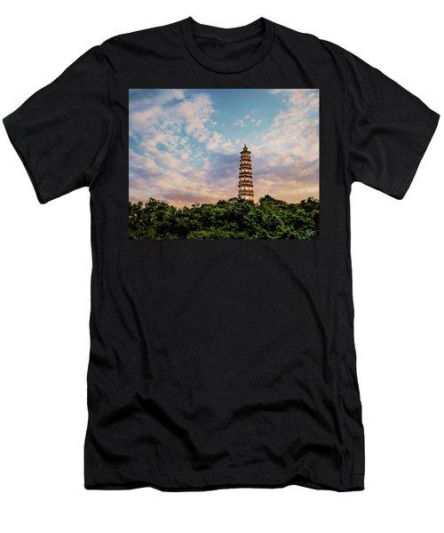 Far Distant Pagoda Men's T-Shirt (Athletic Fit)