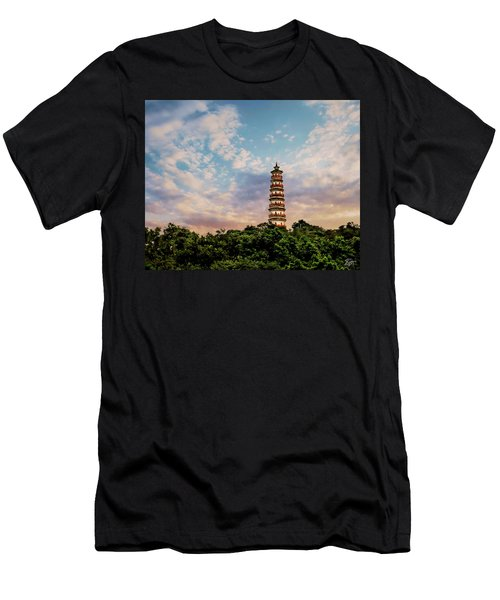 Far Distant Pagoda Men's T-Shirt (Athletic Fit)