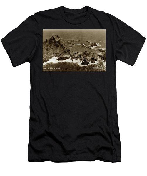 Farallon Island Lighthouse Pacific Ocean April 4, 1924 Men's T-Shirt (Athletic Fit)