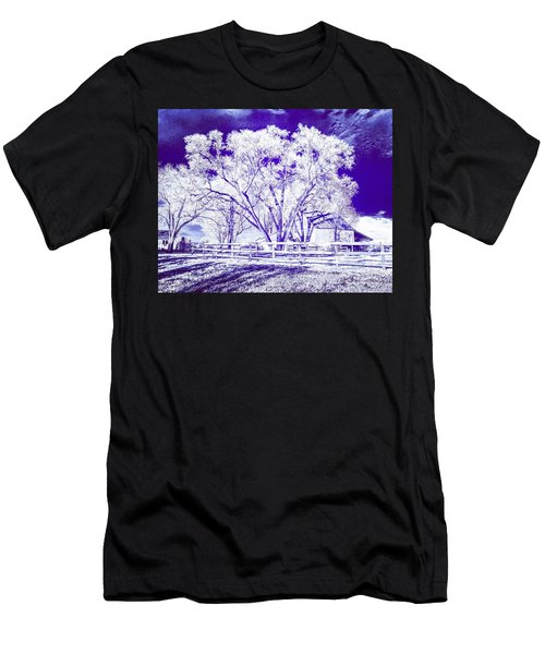 Farm In Suburbia With Wildcat Flare Men's T-Shirt (Athletic Fit)