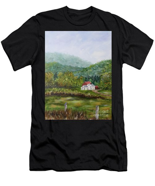 Farm In The Valley Men's T-Shirt (Athletic Fit)
