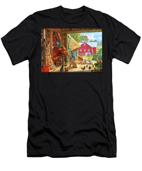 Farm Scene In America Men's T-Shirt (Athletic Fit)