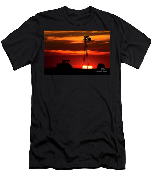 Farm Silhouettes Men's T-Shirt (Athletic Fit)