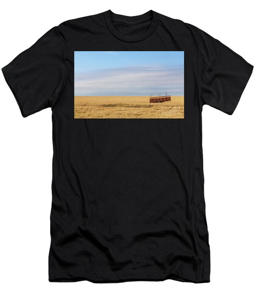 Farm Trailer In The Middle Of Field Men's T-Shirt (Athletic Fit)