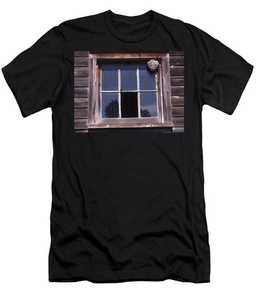 Farm Window With Paper Wasp Nest Men's T-Shirt (Athletic Fit)