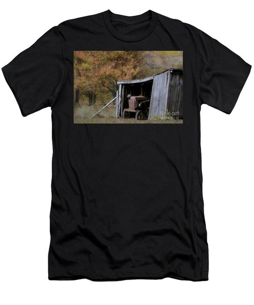 Men's T-Shirt (Slim Fit) featuring the photograph Farmall Tucked Away by Benanne Stiens