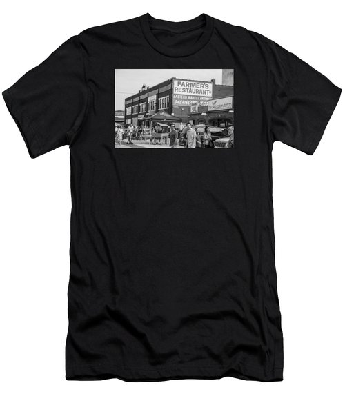 Farmers Restaurant In Detroit Black And White  Men's T-Shirt (Athletic Fit)