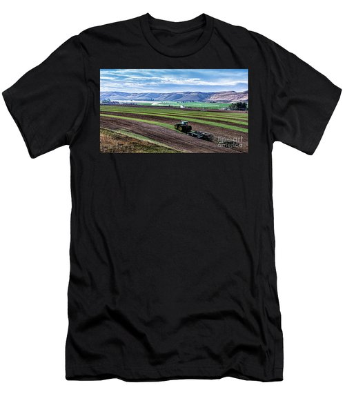 Farming In Pardise Agriculture Art By Kaylyn Franks Men's T-Shirt (Athletic Fit)