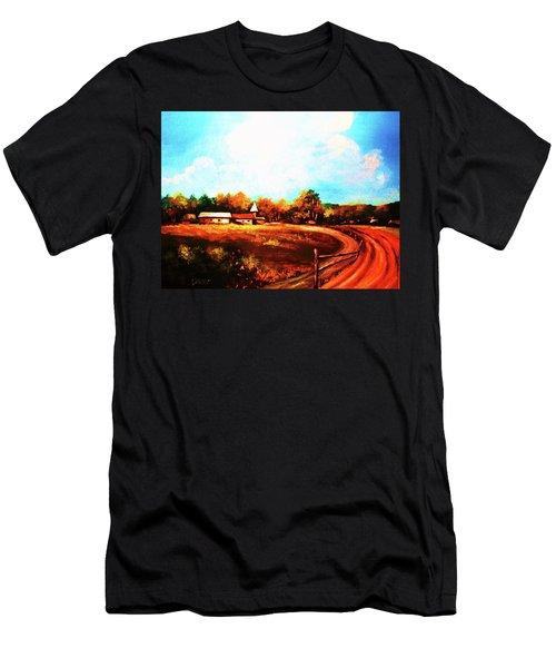 Farmland In Autumn Men's T-Shirt (Athletic Fit)