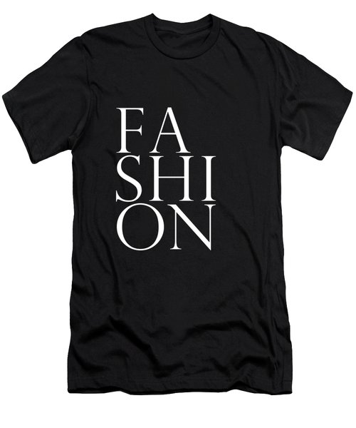 Fashion - Typography Minimalist Print - Black And White Men's T-Shirt (Athletic Fit)
