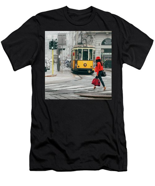 Fashionista In Milan, Italy Men's T-Shirt (Athletic Fit)