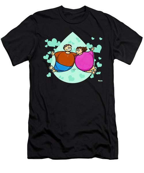 Fat Lovers Men's T-Shirt (Athletic Fit)