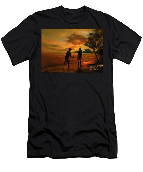 Father And Son Fishing Men's T-Shirt (Athletic Fit)