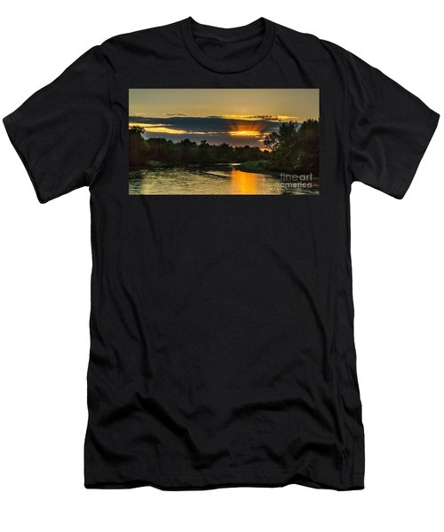 Father's Day Sunset Men's T-Shirt (Slim Fit) by Robert Bales