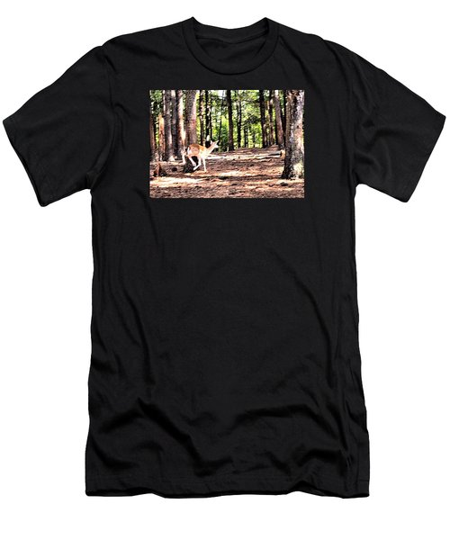 Faun In Flight Men's T-Shirt (Slim Fit) by James Potts