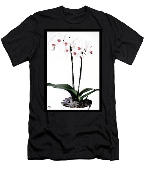 Favorite Gift Of Orchids Men's T-Shirt (Slim Fit) by Marsha Heiken