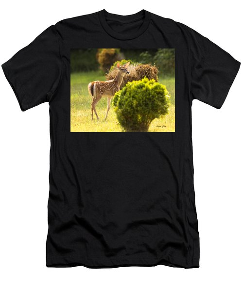 Men's T-Shirt (Athletic Fit) featuring the photograph Fawn by Angel Cher