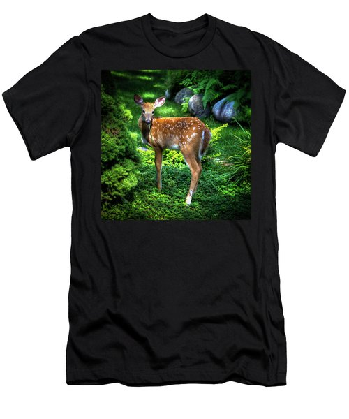 Fawn In The Garden Men's T-Shirt (Athletic Fit)