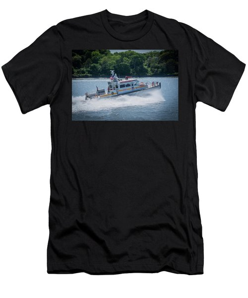 Fdny Fire Boat Men's T-Shirt (Athletic Fit)