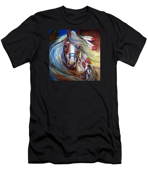 Fearless Indian War Horse Men's T-Shirt (Athletic Fit)