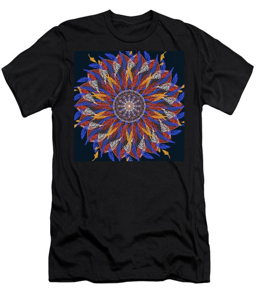 Feather Mandala Iv Men's T-Shirt (Athletic Fit)