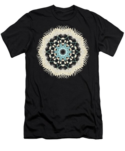 Feathers And Catkins Kaleidoscope Design Men's T-Shirt (Athletic Fit)