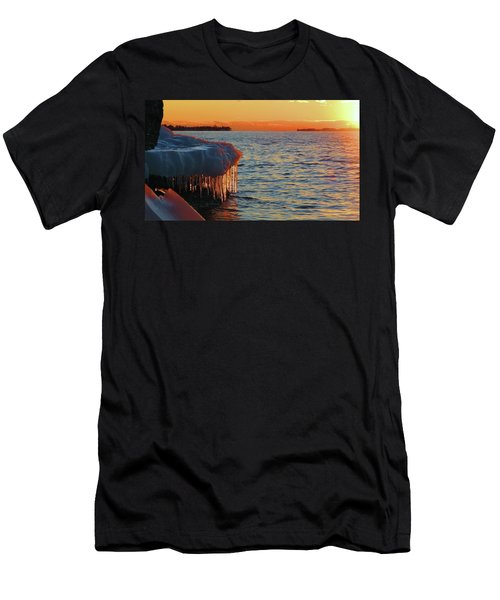 Feburary Sunset Cape Vincent Men's T-Shirt (Athletic Fit)