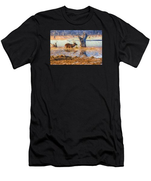 Feeding In The Lake Men's T-Shirt (Athletic Fit)