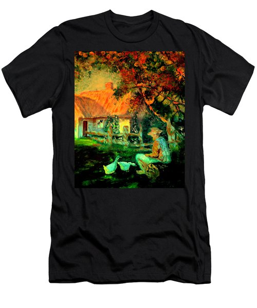 Feeding The Ducks,1985 Men's T-Shirt (Athletic Fit)