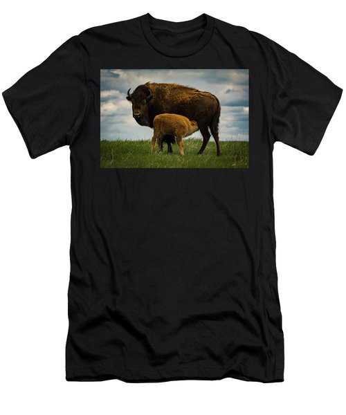Men's T-Shirt (Athletic Fit) featuring the photograph Feeding Time II by Gary Lengyel