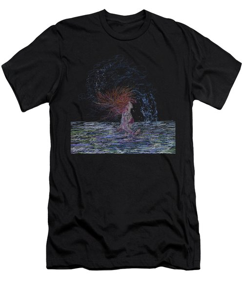 Feeling The Energy Of The Sea Sketch Men's T-Shirt (Athletic Fit)