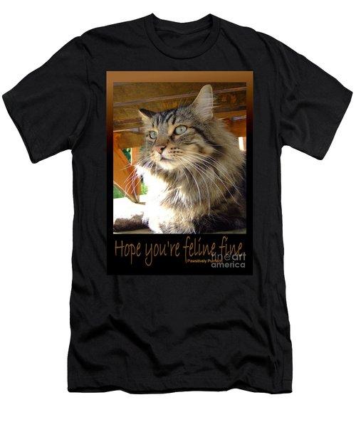 Feline Fine Men's T-Shirt (Athletic Fit)