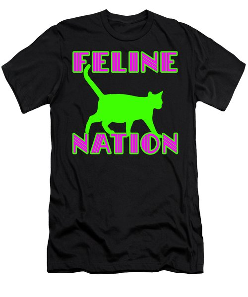 Feline Nation Men's T-Shirt (Athletic Fit)