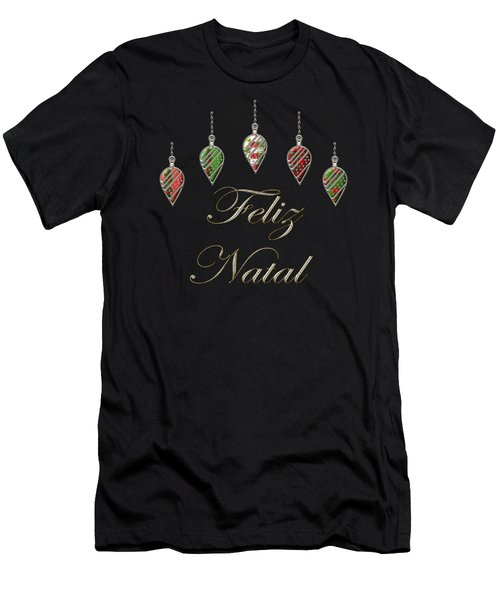 Feliz Natal Portuguese Merry Christmas Men's T-Shirt (Athletic Fit)