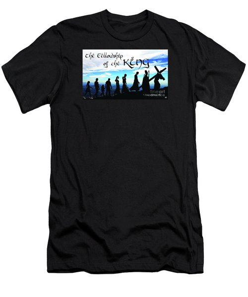 Fellowship Of The King Men's T-Shirt (Slim Fit) by Sharon Soberon