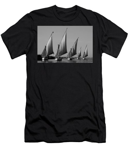 Feluccas On River Nile Men's T-Shirt (Athletic Fit)