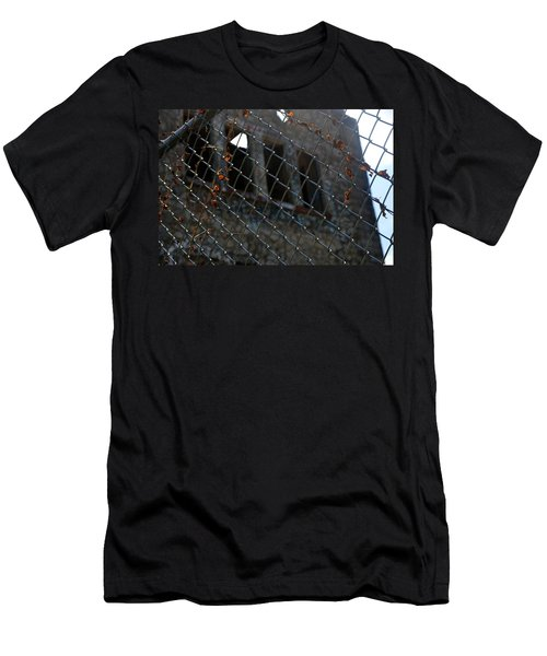 Men's T-Shirt (Athletic Fit) featuring the photograph Fenced In by W And F Kreations