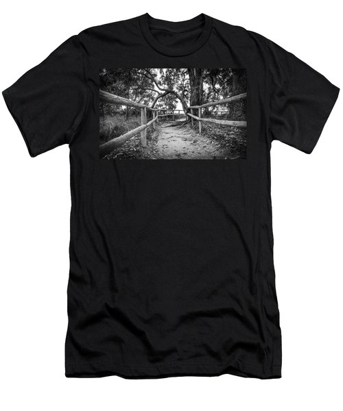 Fenced Pathway. Men's T-Shirt (Athletic Fit)