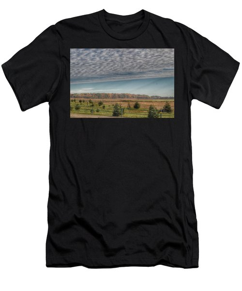 9017 - Fences, Firs And Fall Men's T-Shirt (Athletic Fit)