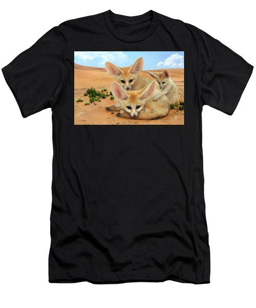 Fennec Foxes Men's T-Shirt (Athletic Fit)