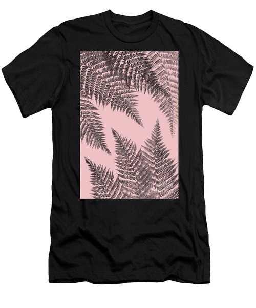 Ferns On Blush Men's T-Shirt (Athletic Fit)
