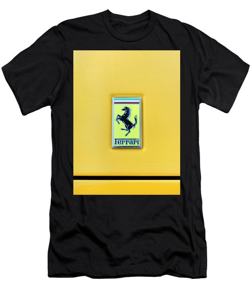 Men's T-Shirt (Slim Fit) featuring the photograph Ferrari Badge by Theresa Tahara