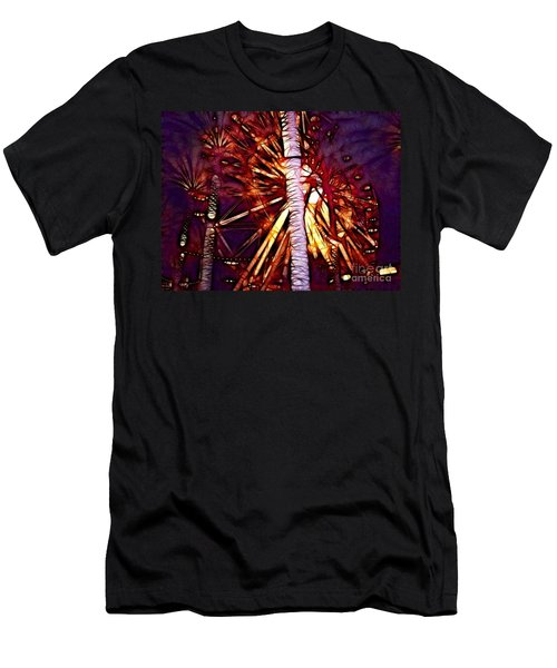 Men's T-Shirt (Slim Fit) featuring the photograph Ferris Wheel  by Mariola Bitner