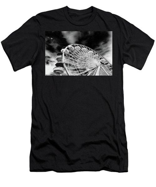 Ferris Wheel Santa Monica Pier Men's T-Shirt (Athletic Fit)