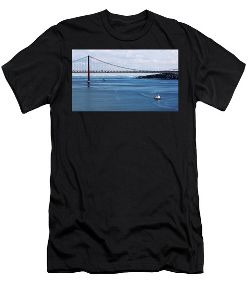 Men's T-Shirt (Athletic Fit) featuring the photograph Ferry Across The Tagus by Lorraine Devon Wilke