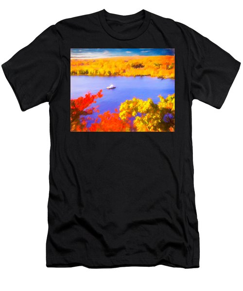 Ferry Crossing Connecticut River. Men's T-Shirt (Athletic Fit)