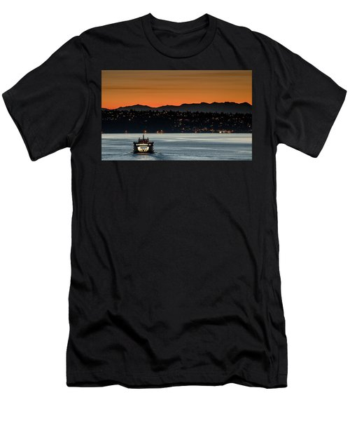 Ferry Sealth At Dawn Men's T-Shirt (Athletic Fit)